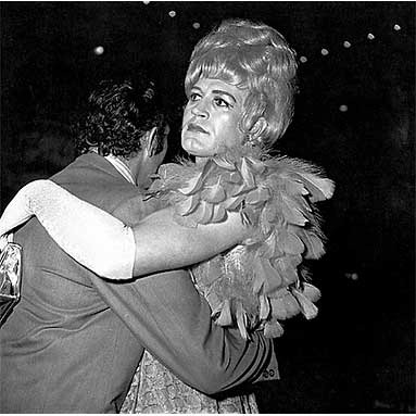 diane arbus two men dancing at drag ball new york 1970